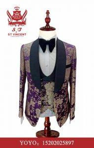 Three-Piece Nice Pattern Suits Wedding